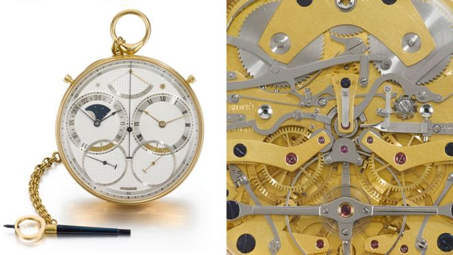 The Space Travellers' watch Source: Sotheby's, BBC