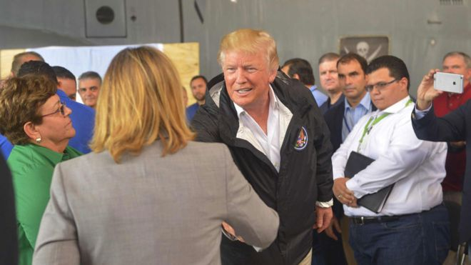 Yulin Cruz y Donald Trump.