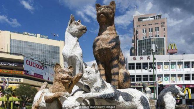 Những điều ám chỉ về mèo được thấy ở khắp nơi tại Kuching