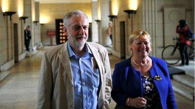 Pat Glass and Jeremy Corbyn