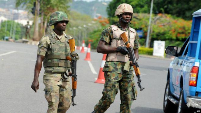 Nigeria military on alert