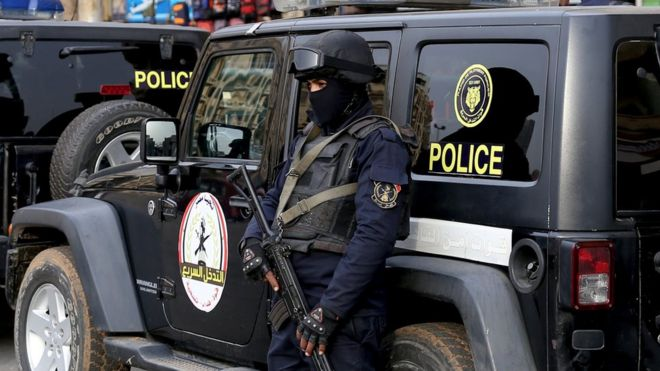File photo of Egyptian police officer in Cairo (25 January 2017)