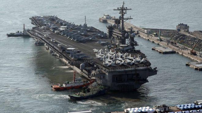กองเรือโจมตี คาร์ล วินสัน ของสหรัฐฯ
