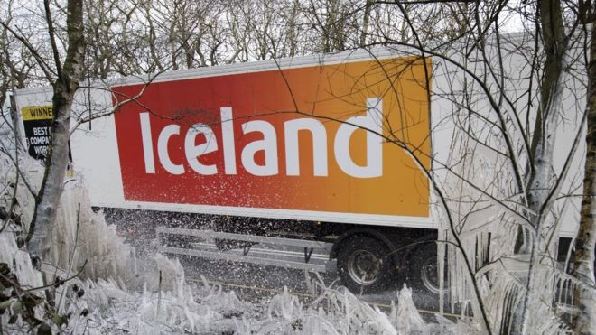 Iceland lorry