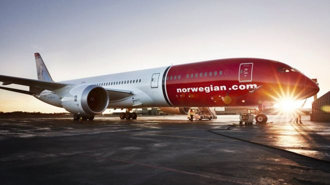 Boeing 787 Dreamliner in colours of low-cost carrier Norwegian