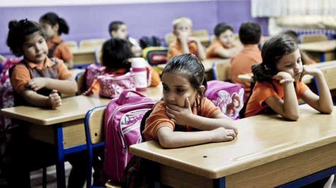Turkish schoolchildren (file pic)