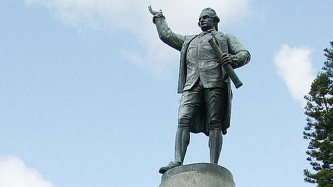 A statue of Captain James Cook in Sydney's Hyde Park