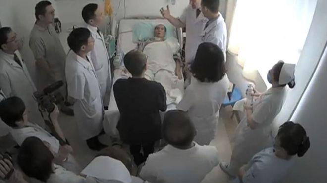 疑似被泄露刘晓波在医院的视频片段