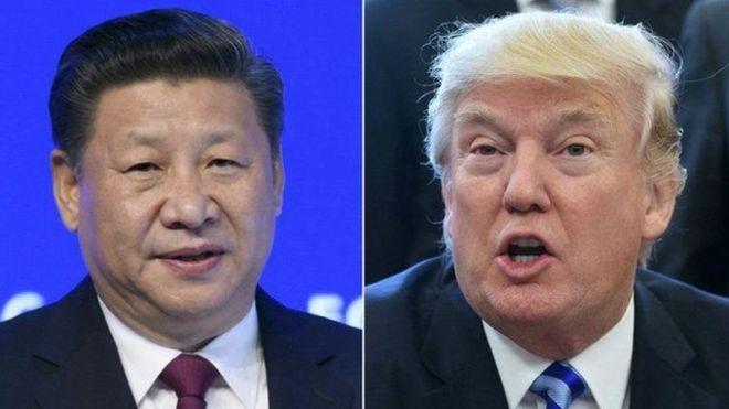 Chủ tịch Trung Quốc, Tập Cận Bình, và Tổng thống Mỹ, Donald Trump