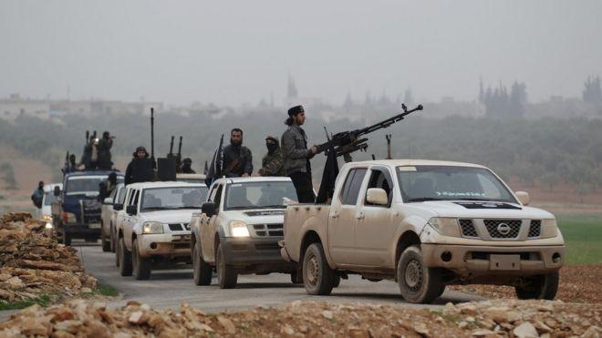 İdlib'te cihatçı muhaliflerin karargâhına saldırı