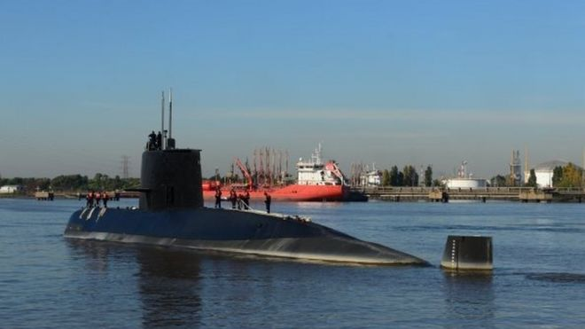 Missing Argentinian sub reported mechanical problems
