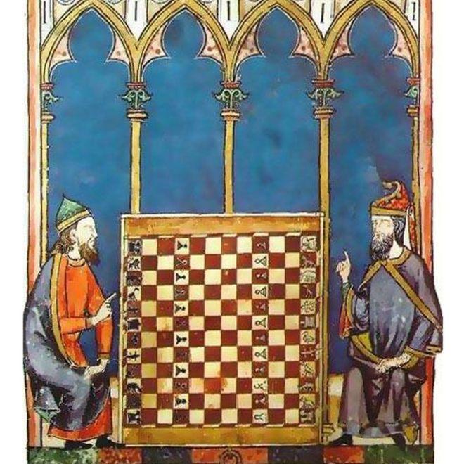 Sefardíes jugando al ajedrez.