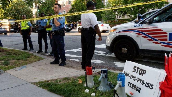 Госдепаратамент США вызвал посла Турции после драки у посольства
