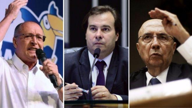 Geraldo Alckmin, Rodrigo Maia e Henrique Meirelles
