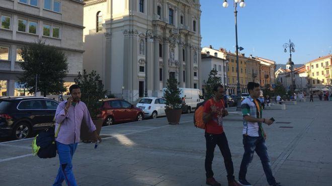 Migrants in Gorizia
