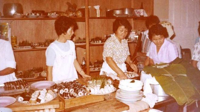 Imigrantes japoneses cozinhando em Amazonas