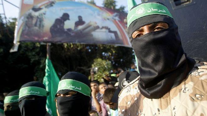 Militantes de Hamas.