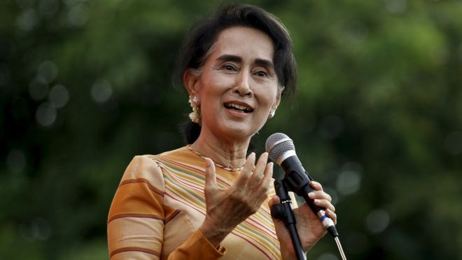 profile aung san suu kyi bbc news myanmar pro democracy leader aung san suu kyi gives a speech on voter education at