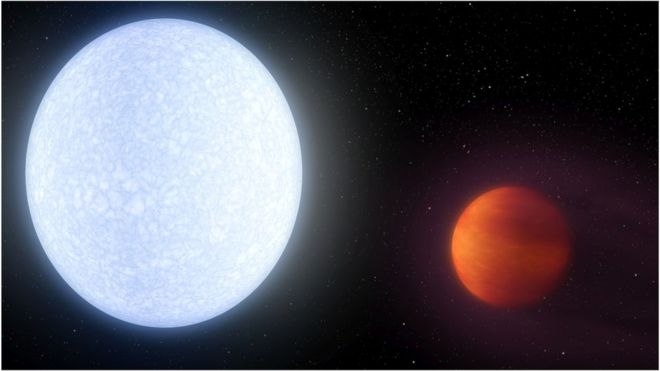 The planet, named KELT-9b, is about 650 light-years from us