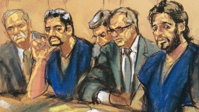 Reza Zarrab'ın mahkeme salonunda çizimi