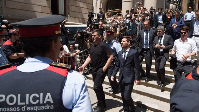 Spanish supreme court upheld imprisonment of football star Messi for tax evasion thro