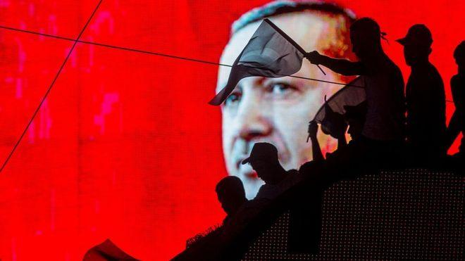 Simpatizantes de Recep Tayyip Erdogan