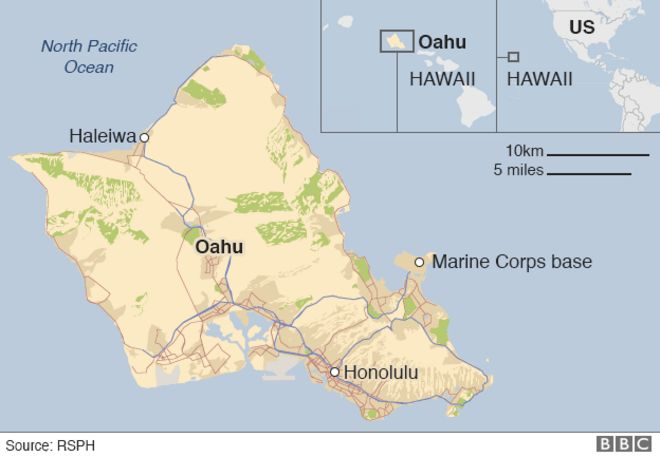 Two US Military Helicopters Collide Near Hawaii BBC News - Us millitary instilation maps hawaii
