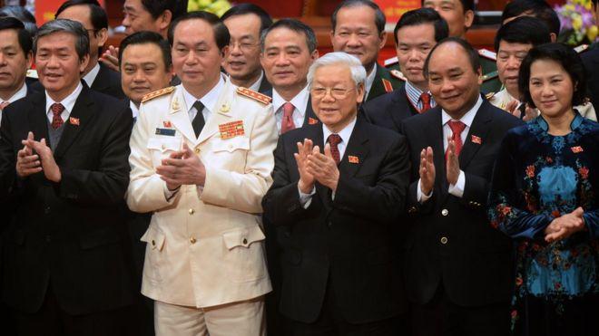 Ban lãnh đạo mới của Đảng Cộng sản Việt Nam sau Đại hội 12 năm 2016