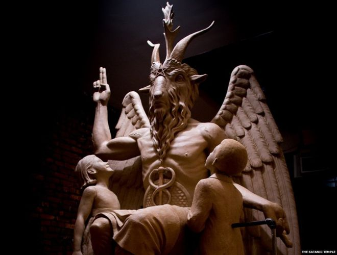 Decoding The Symbols On Satans Statue Bbc News