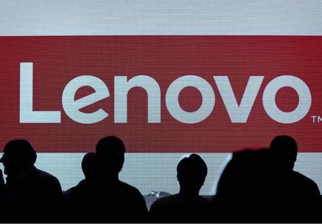 The Lenovo's brand logo is displayed on a screen before a press conference in Hong Kong on May 21, 2015. China's Lenovo said its revenue rose 20 percent in its past fiscal year, helped by its purchase of Motorola last year as the PC maker diversifies into the smartphone market, but net profit growth slowed to just one percent. AFP PHOTO / Philippe Lopez (Photo credit should read PHILIPPE LOPEZ/AFP/Getty Images)