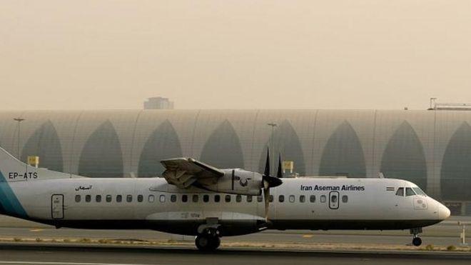 В Иране разбился пассажирский самолет. На борту было 66 человек