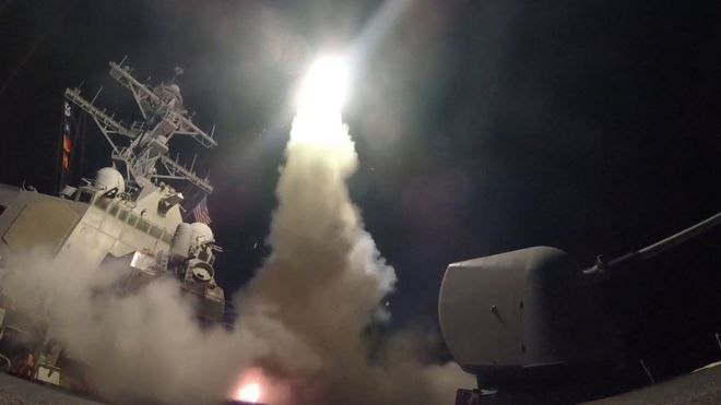 Удар крылатыми ракетами по Сирии