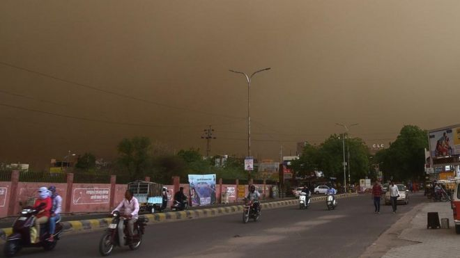The storm in Bikaner