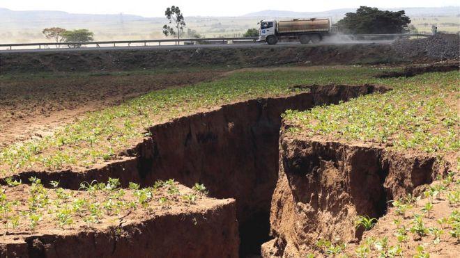 Cratera no Quênia