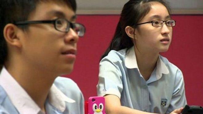 Estudiantes de secundaria de Singapur