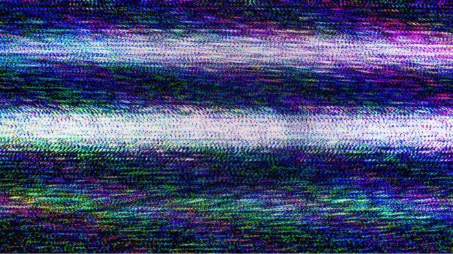 estática en una televisión