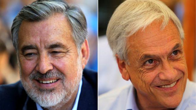 Os dois Chiles que se enfrentam nas urnas neste domingo