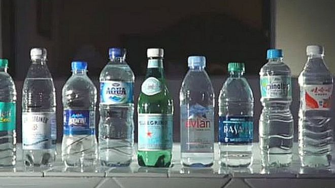 Partially tested bottled water
