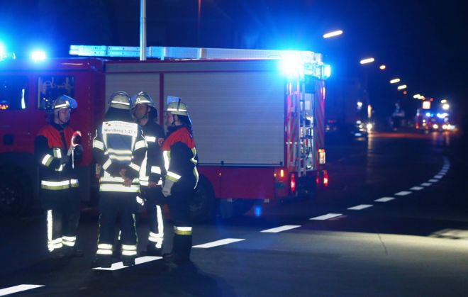 firefighters in the darkness, 18 July 2016