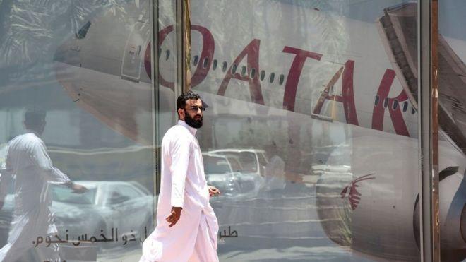 Shirkadda diyaaradaha ee Qatar Airways ayaa waxaa laga mamnuucay inay isticmaasho hawada dalalka dariska ah ee Khaliijka