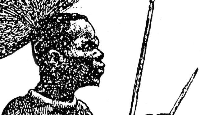 Imagen de los Betchuanas, guerreros africanos