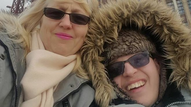 Wendy and Liam in Blackpool