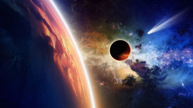 Un planeta se acerca a la Tierra