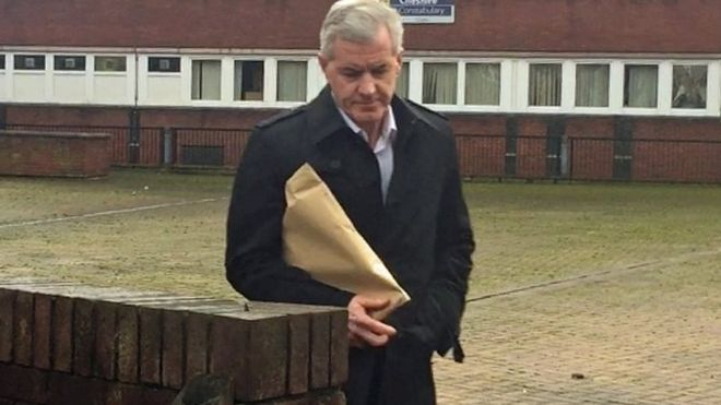 Former Crewe Alexandra football coach Paul McCann leaves South Cheshire Magistrates Court