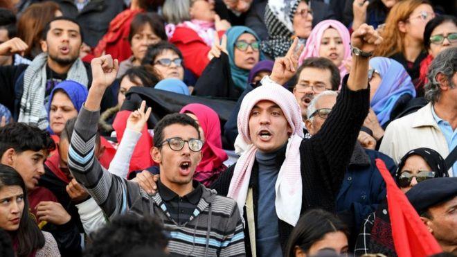 Jerusalem : Les Tunisiens dans la rue pour manifester contre Trump