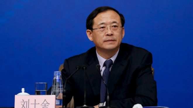 Liu Shiyu, new chairman of the China Securities Regulatory Commission (file photo)