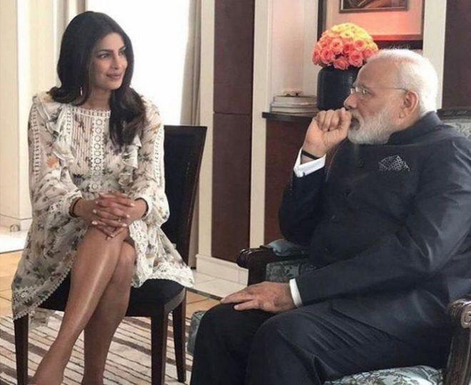 Priyanka Chopra pamoja na Nahindra Modi