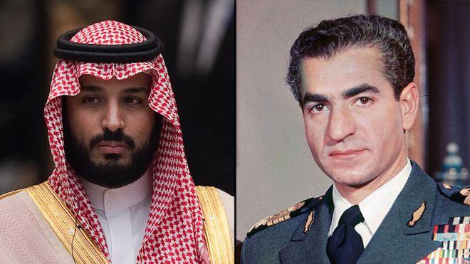 شاه ایران و ولیعهد عربستان