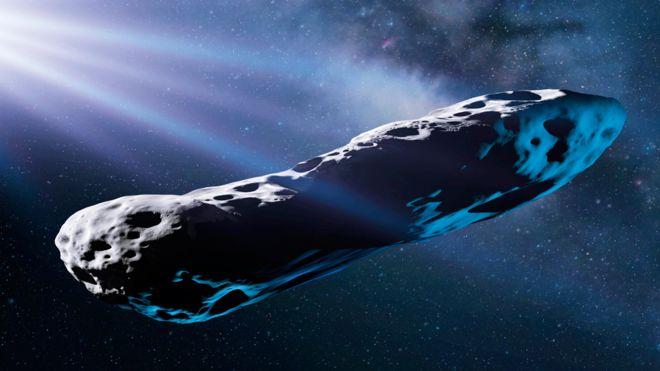 Projeção da aparência do Oumuamua
