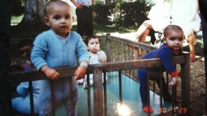Adopted romanian orphans still suffering in adulthood bbc news adi on the left and another child at the orphanage ccuart Choice Image